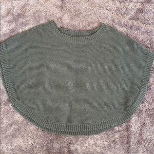Express gray knit poncho size small